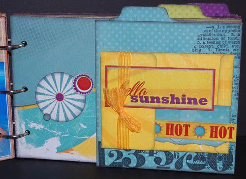 Album - mini album, kit août 2010 fée du scrap