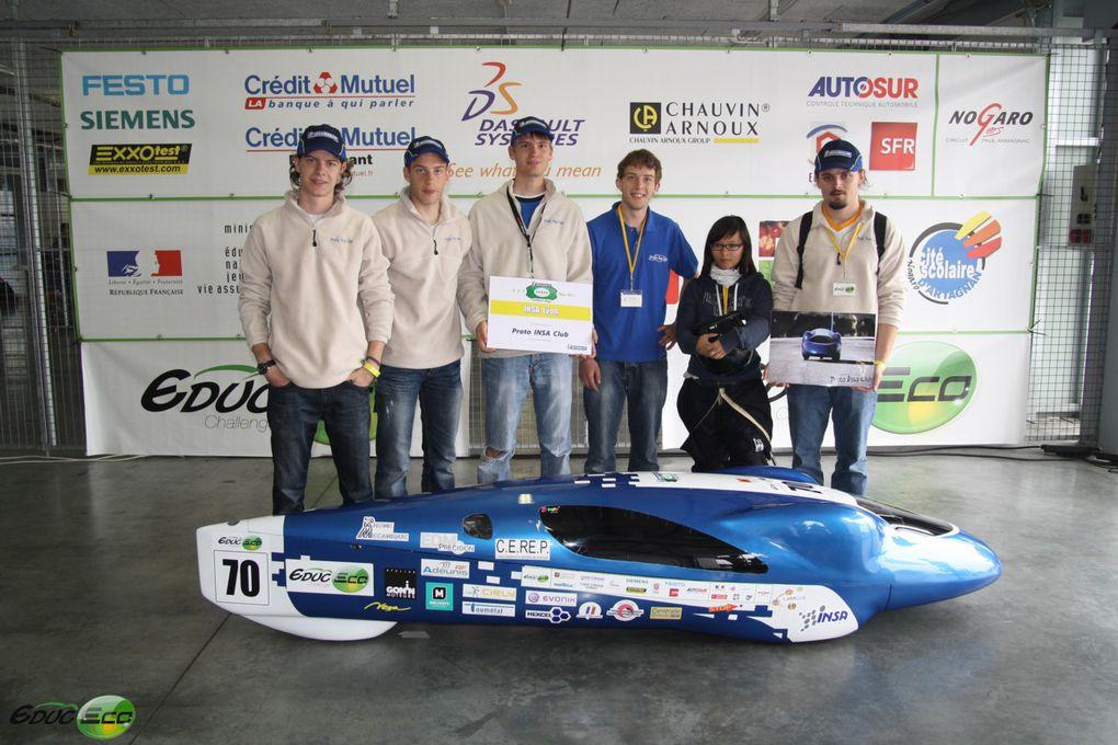 Le Challenge Educ-Eco 2011 s'est déroulé à Nogaro.TIM y a obtenu le Grand Prix, c'est la classe!Certaines des photos présentes dans cet album ont été généreusement mises à disposition des concurrents par les organisateurs de l'évènemen