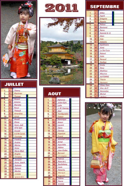 """Quelques souvenirs d'un voyage au Japon , prétexte à faire """"parler"""" les mois 2011."""