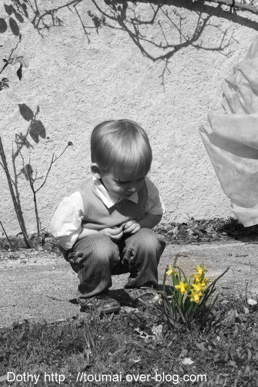 Méli mélo de Toumaï en noir et blanc de la naissance à aujourd'hui