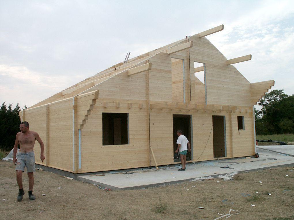 2 jour autoconstruction maison bois massif madrier sandwich polystyrène