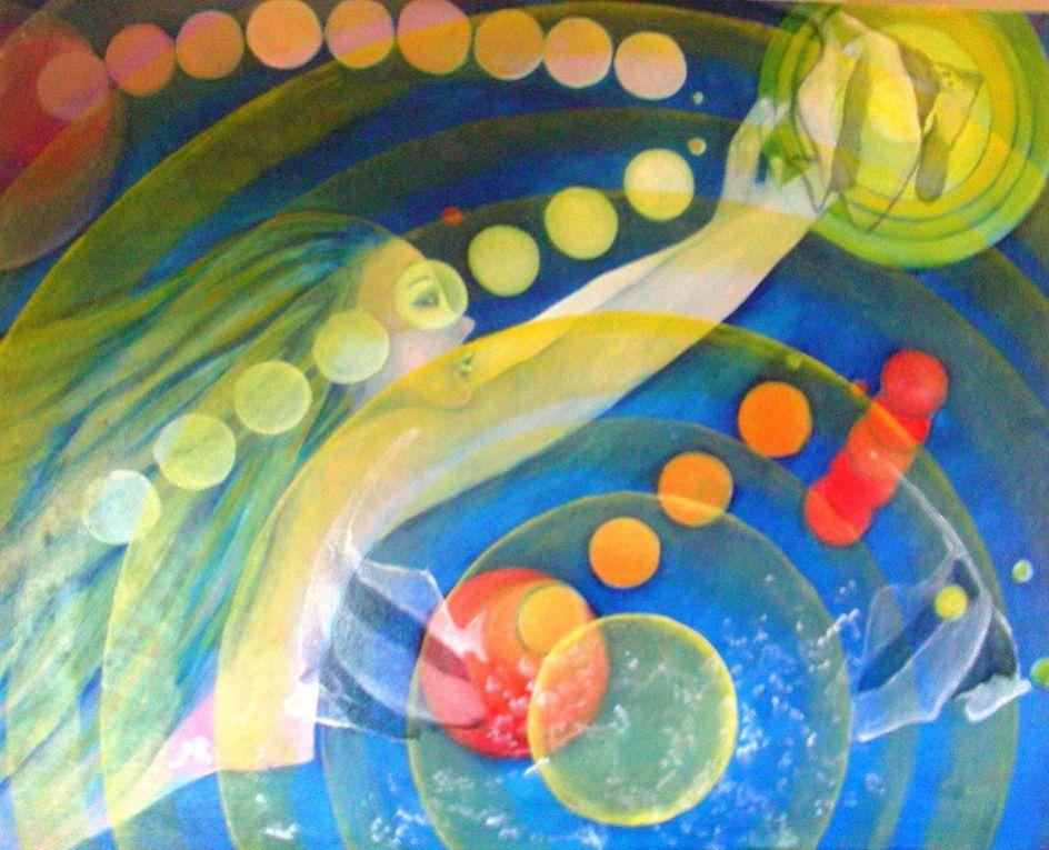 """Exposition """"Les pieds sur terre et la tête dans l'univers"""" avec Marie-Christine Bartolo, Martine Carle et Mia Williams"""