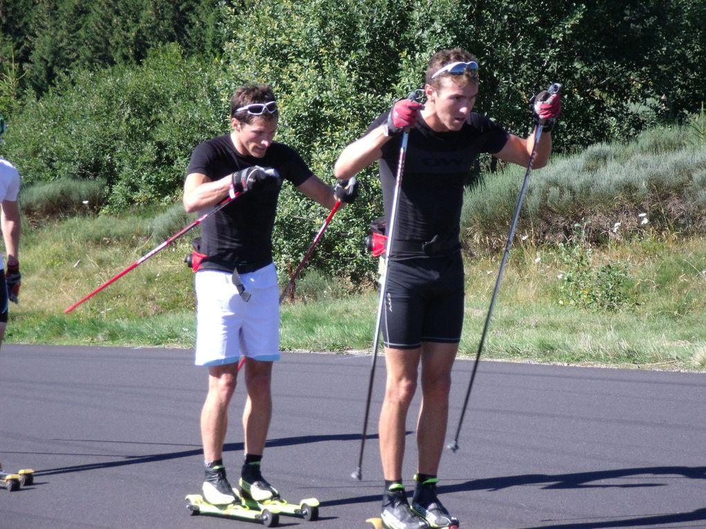 stage fédé avec toutes les equipes de France à Super-Besse (Auvergne) et les championnats de france de ski-roue