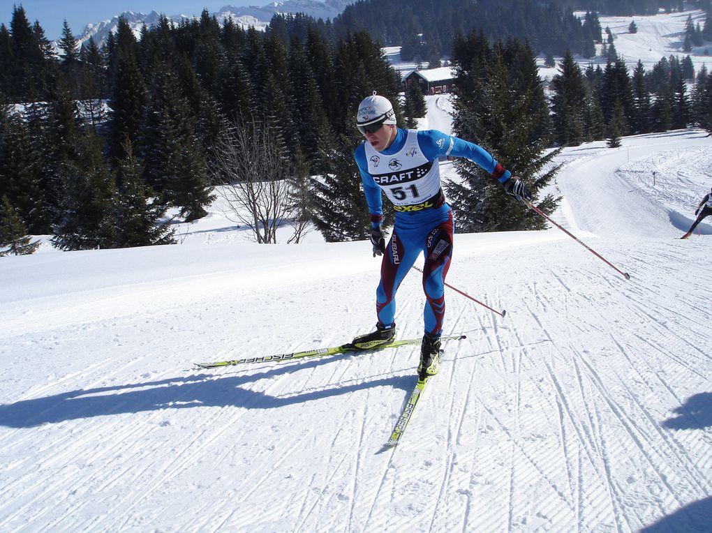 Photos des Championnats du Monde Espoirs au Praz de Lys. Le jour de mon titre sur le 15km skate individuel