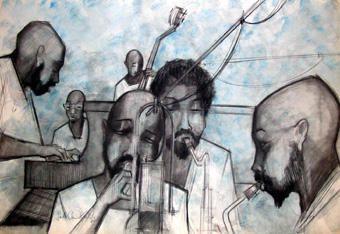 <p>Le jazz est le th&egrave&#x3B;me r&eacute&#x3B;current dans l'oeuvre de Sacha Chimkevitch. Adolescent il court les cabarets parisiens de jazz et ses cahiers d'&eacute&#x3B;colier sont illustr&eacute&#x3B;s de croquis de jazz men. Prisonnier en allemagne il continue &agrave&#x3B; dessiner des orhestres de jazz et cella jusqu'&agrave&#x3B; son dernier jour.</p><p>G&eacute&#x3B;rard Arnaud a dit de lui : &quot&#x3B;Sacha n'est pas un peintre du jazz, il peint au jazz.... Dans ses aquarelles il traite la couleur en &eacute&#x3B;clairagist