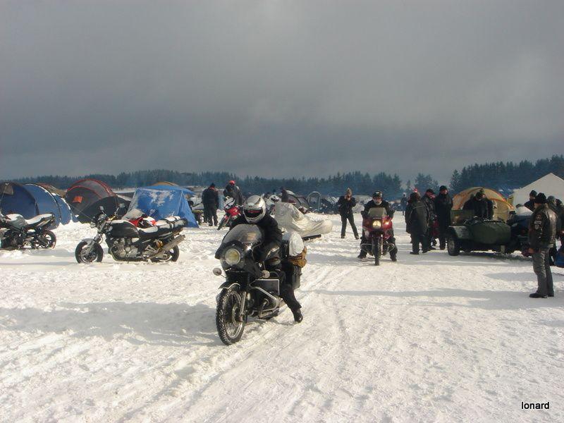 Concentration de motos sur le Plateau de Millevaches 2012