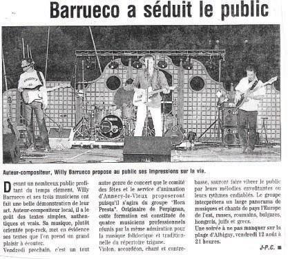 Album - barrueco dans la presse