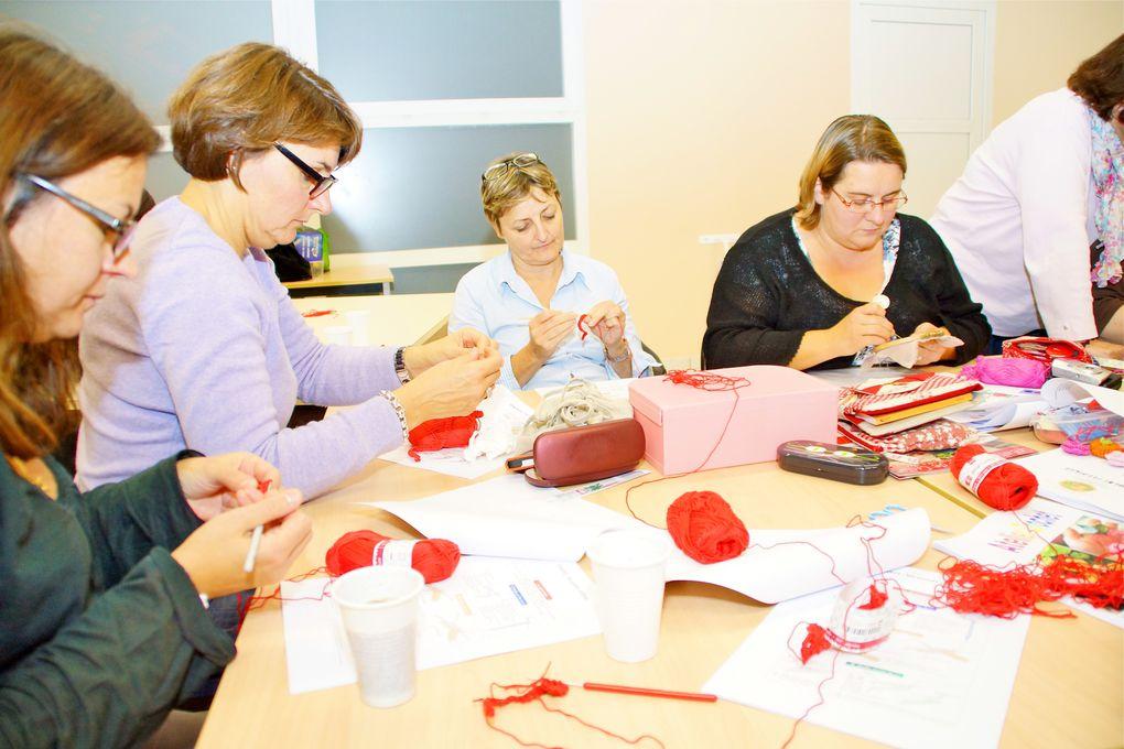 Atelier découverte du crochet animé par Sandrine F.