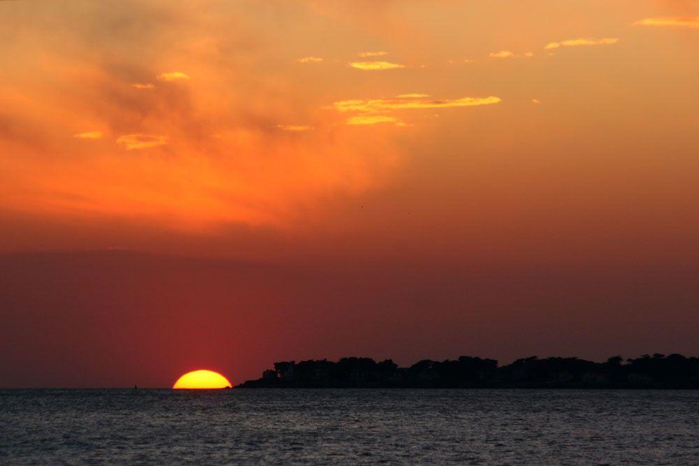 Coucher de soleil sur la Baie de La Baule - Photos Thierry Weber Photographe de Mer