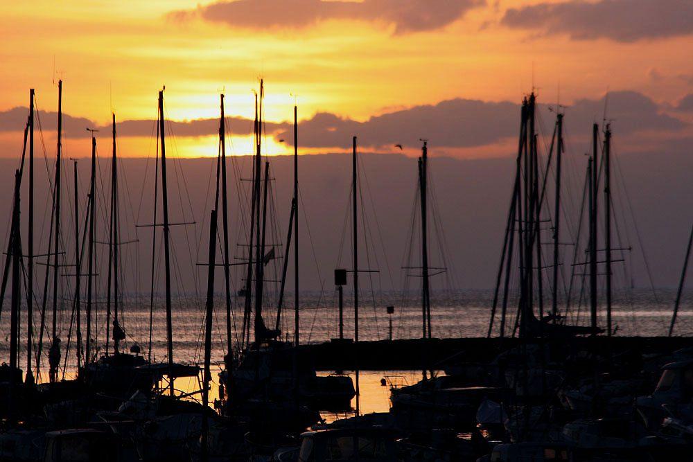 Coucher de soleil sur le Port de Pornichet (Loire-Atlantique) - Photos Thierry Weber Photographe de Mer La Baule Guérande