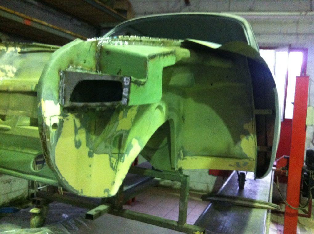 """Dossier photos carrosserie de la restauration du projet Low Light """"Carrera"""", by Thomas (Classic Garage)"""