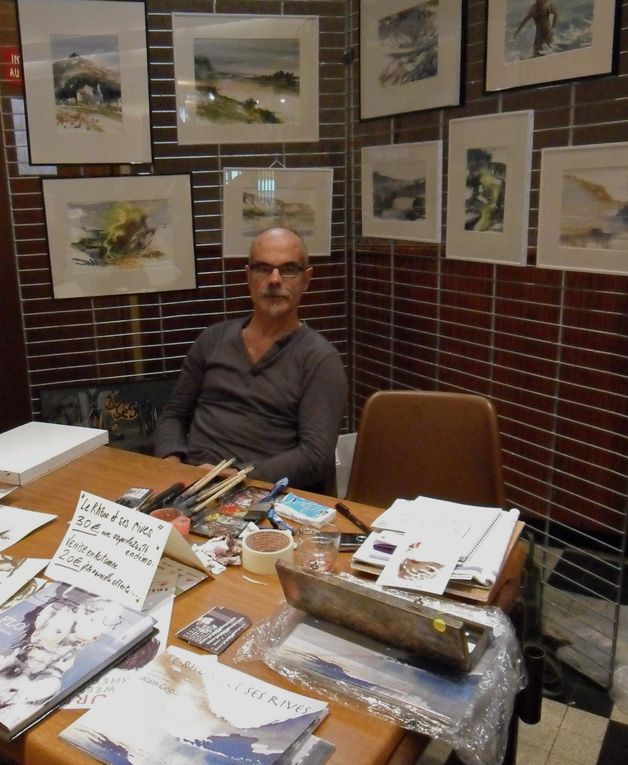 peinture et aquarelles des paysages vus du Rhône