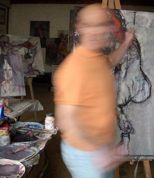 mes peinture récentes qui seront  (pas toutes) à la galerie du parc