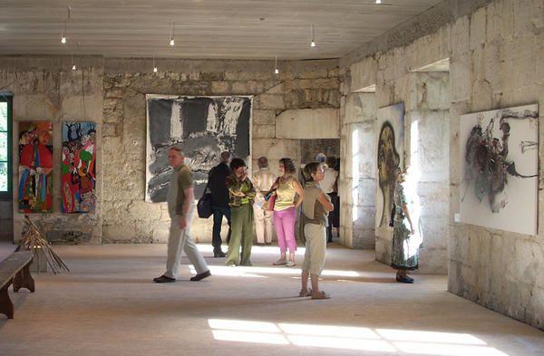 affiche ANIMA FORTIS et images des peintures présentes  au fort
