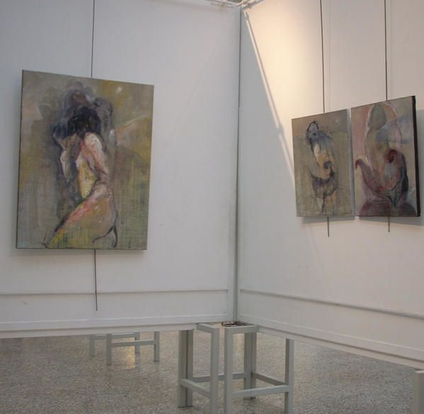 mes peintures au salon de FIGURATION CRITIQUE<br />Lyon quai Bondy