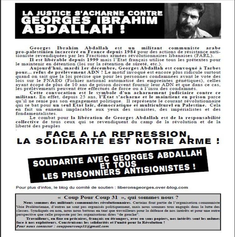 Photos et images du blog liberonsgeorges du collectif pour la libération de Georges Ibrahim Abdallah
