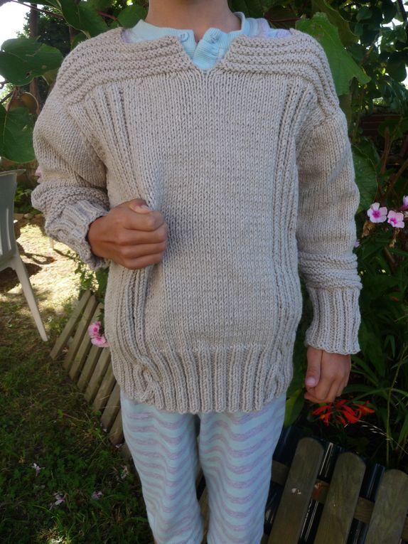 Les tricots confectionnés pour nous par ma maman et ma tante