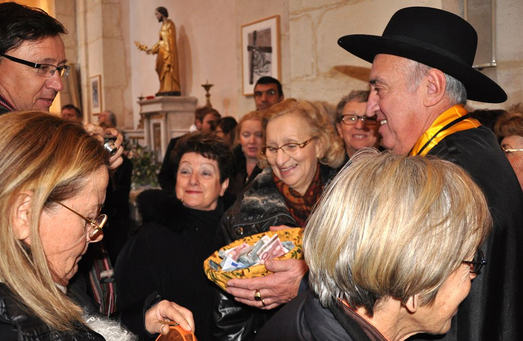Richerenches 2012, messe traditionnelle pour la Saint Antoine, patron des trufficulteurs. Photos : Pellet Jean-Marc.