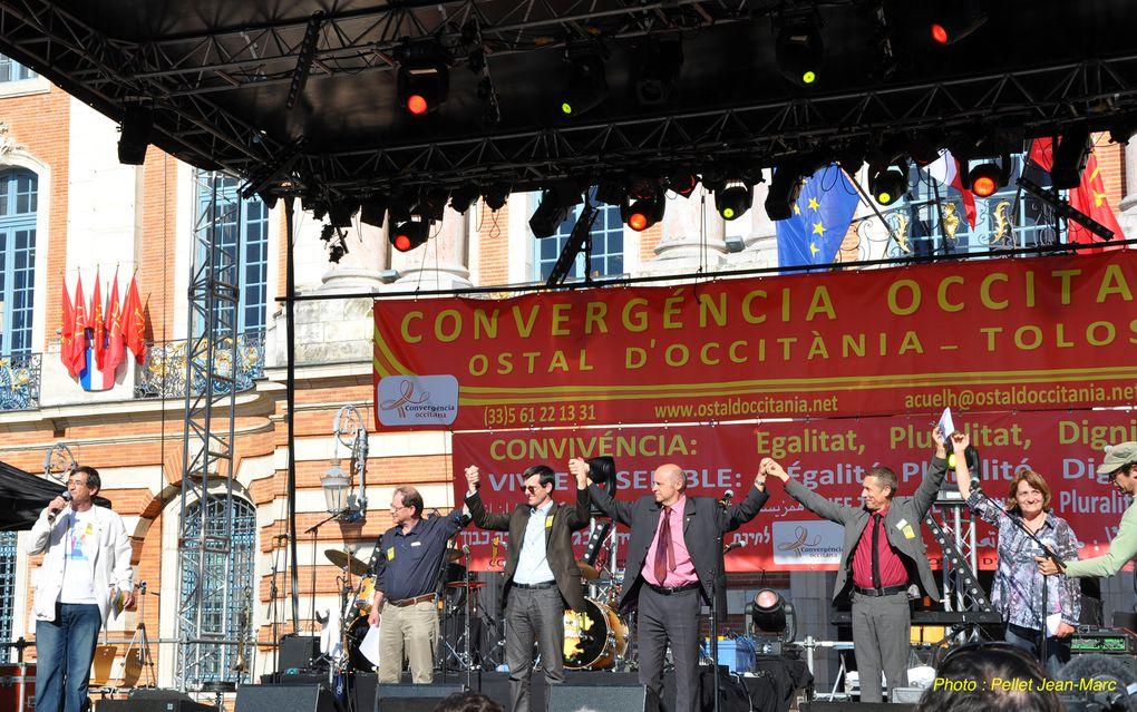 Manifestation à Toulouse pour l'Occitan.Photo Pellet Jean-Marc