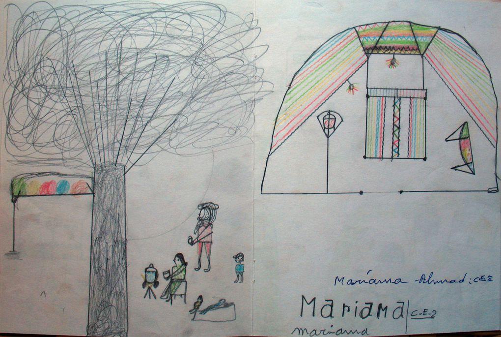 Dessins des élèves de Sikerat et Anou N'Agarof au Nord Niger