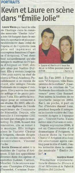 Articles de Presse concernant l'association Spectacul'Art.