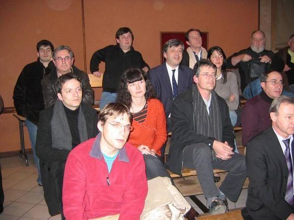 Réunion publique avec Arnaud Montebourg, pour le démarrage de la campagne des législative à Lavaurs (Tarn)