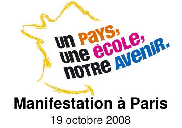Manifestation du 19 10 2008