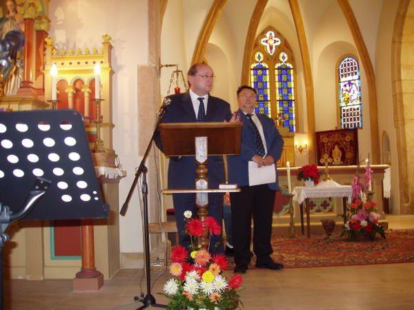 quelques acteurs de la c&eacute&#x3B;r&eacute&#x3B;monie d'inauguration de l'orgue le 8 octobre 2006
