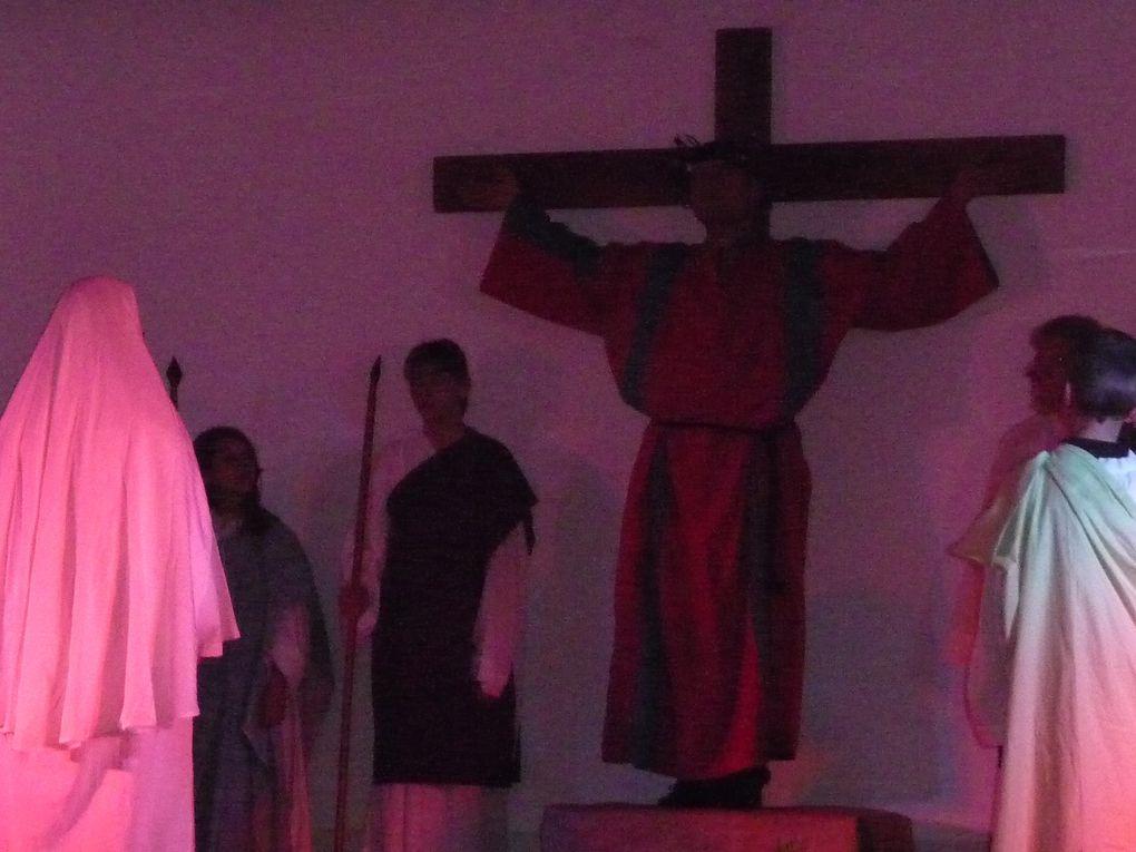 la passion du Christ jouée par les paroissiens samedi 16 avril salle communale de Piblange