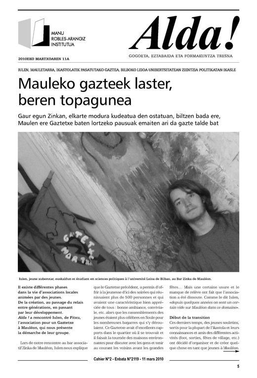 Album - Alda ! Lehen orriak - Premières pages