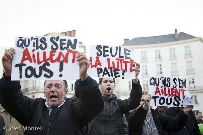 Siège du Parti Socialiste de Loire-Atlantique et Place Royale - Nantes, le 6 mai 2012