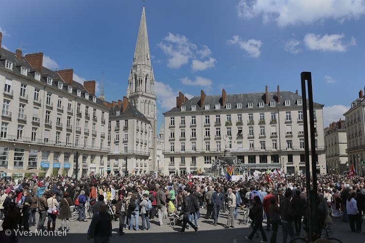 Nantes, place Royale - 20 avril 2013