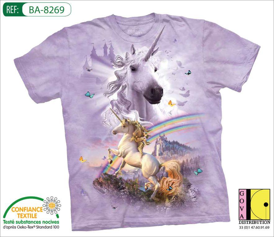 T-shirt publicitaire animal - familles : la préhistoire, le monde aquatique, le fantastique et le monde de l'horreur, les t-shirts noirs.