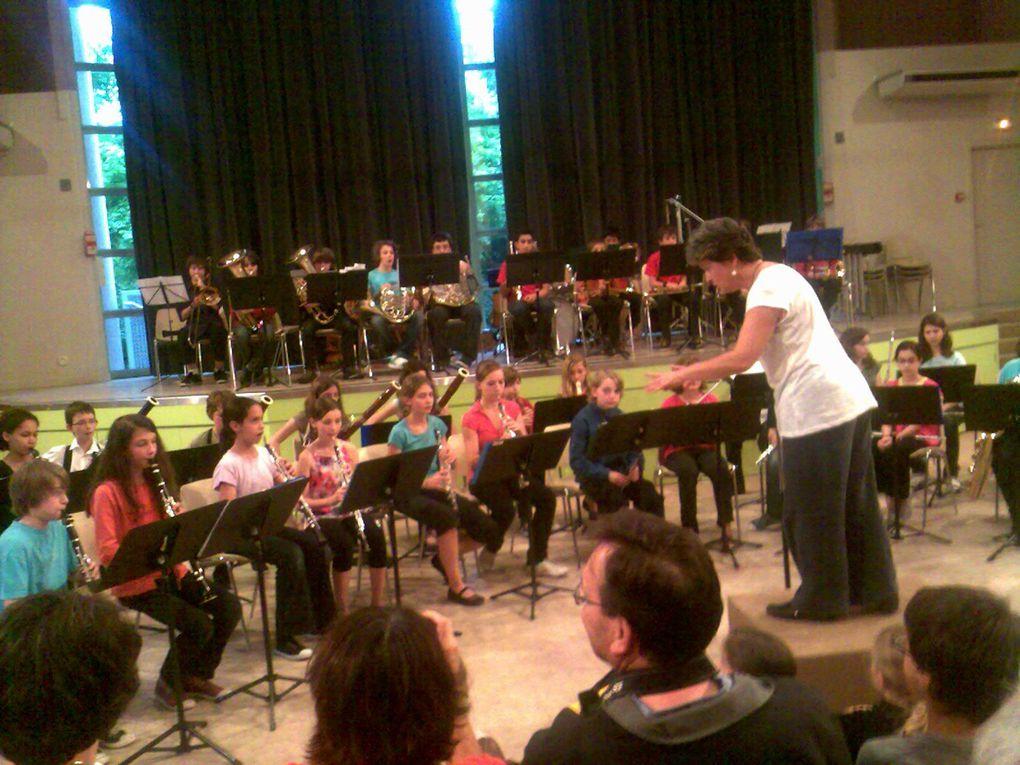 Les concerts donnés par les  jeunes musiciens et chanteurs du conservatoire de Lyon