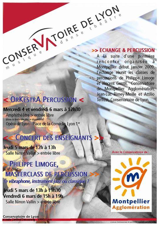 Diverses affiches des spectacles du conservatoire de Lyon