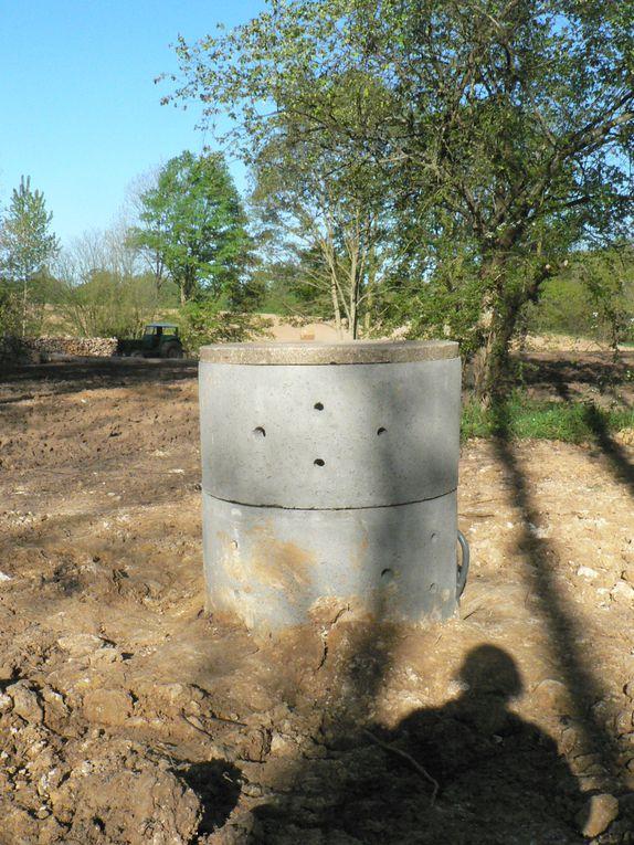 les photos de la réalisation du puits.