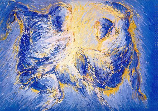peintures executées dans l'atelier de la rue Amelot à Paris entre 1980 et 1985