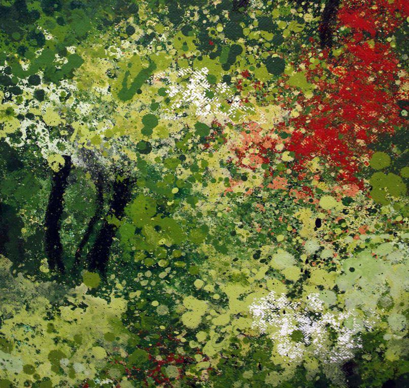 Jardins d'artistes sur fond vert - album