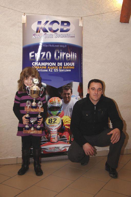 Les photos de l'Assemblée générale et la remise des Prix du Kart Club Bouzonville 2009 à la Bibichbach.Photos Eric Lemoussu