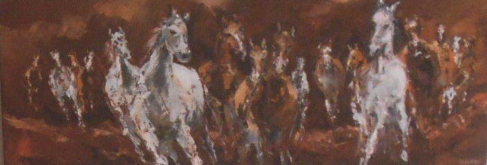 Quelques huiles de chevaux...Hôpital MEMORIAL de Saint-Lô jusqu'au 26 septembre 2014