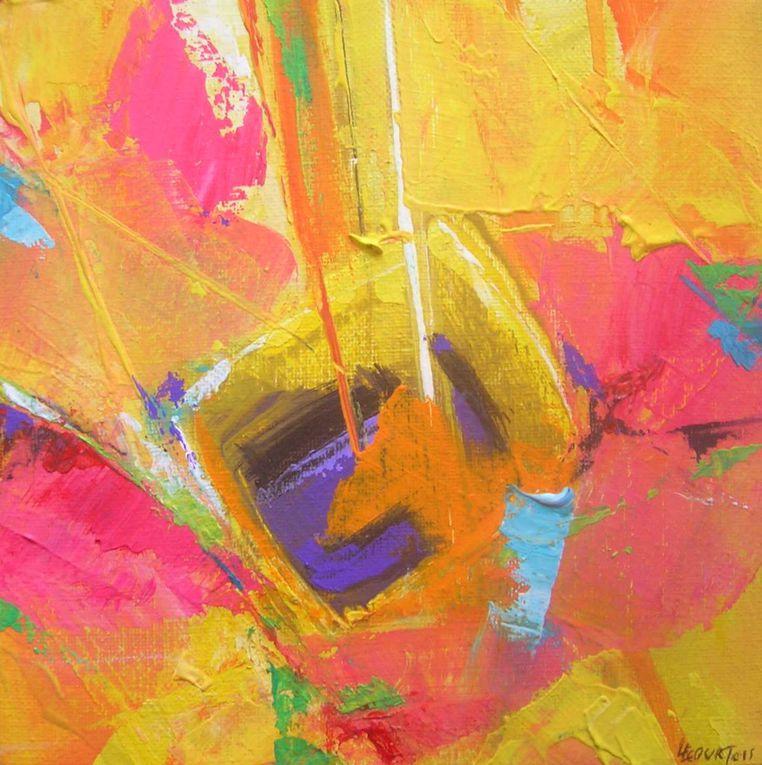 Les peintures présentées ici sont réalisées à l'acrylique sur toile.Pcopyright Olivier Lecourtois  2006-2011