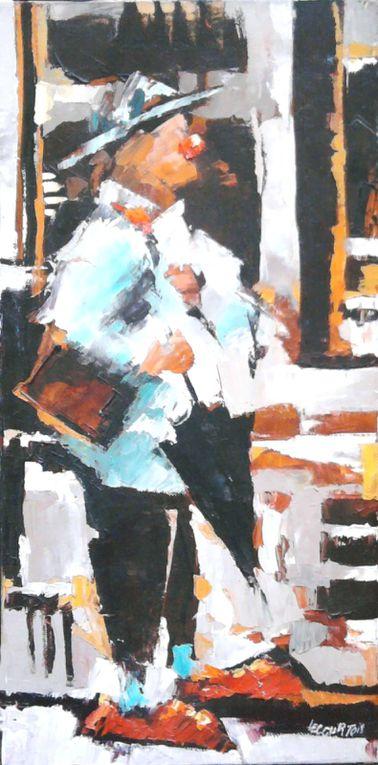 CARNAVAL DE GRANVILLEUne quarantaine de tableaux réalisées à l'huile sur toile.à l'atelier...copyright Olivier Lecourtois  2006-2011