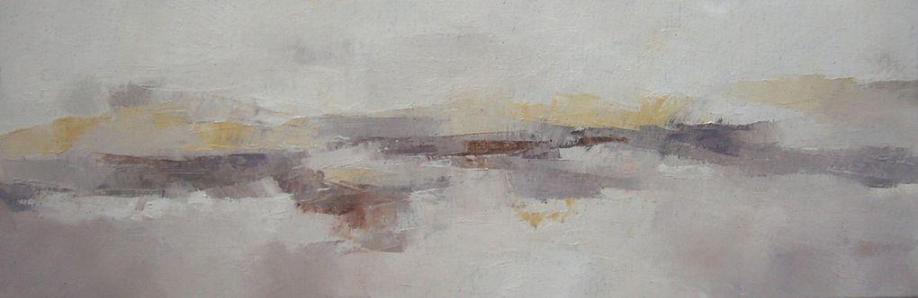 Reflets ..huiles sur toiles 2005/2009Lumières d'estran... 2011 Une quinzaine de toiles dont quelques unes présentées ici...de nouvelles pièces en préparation pour 2012 dont deux grands formats 195x130