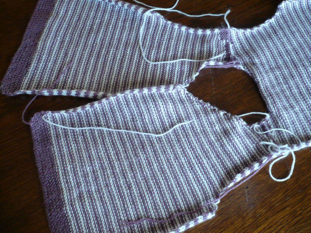 modèles de tricot avec et sans explications, des descriptions de points de tricot.