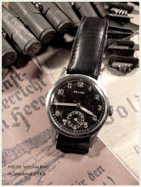 <p>Panel de montres allemandes 2&eacute&#x3B;me guerre</p><p>Fond noir:Arm&eacute&#x3B;e de terre</p><p>Fond Blanc:Marine</p>