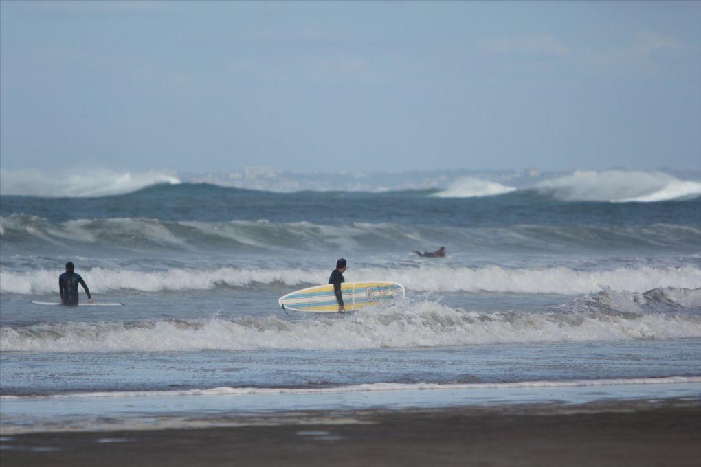 plusieurs photos prises sur la plage d'Hendaye au Pays Basque