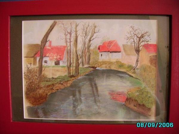 <p>Voici mes pastels et acryliques. Le grenier est une copie conforme de l'oeuvre de Paul Victor dont j'admire tous les pastels. Ses ambiances sont magiques. Les toits rouges est la copie d'une huile ancienne... il faut que je retrouve l'artiste (hollandais je crois ?)</p><p>La ferme au pastel est un paysage sorti de mon imagination avec quelques pistes trouv&eacute&#x3B;es dans les magazines pour certains d&eacute&#x3B;tails ! La photo n'est pas terrible.</p>
