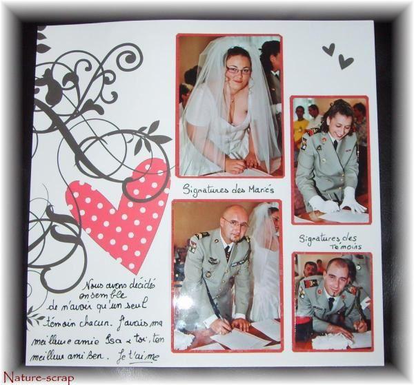 L'album scrap des photos de mon mariage le 2 juillet 2005.