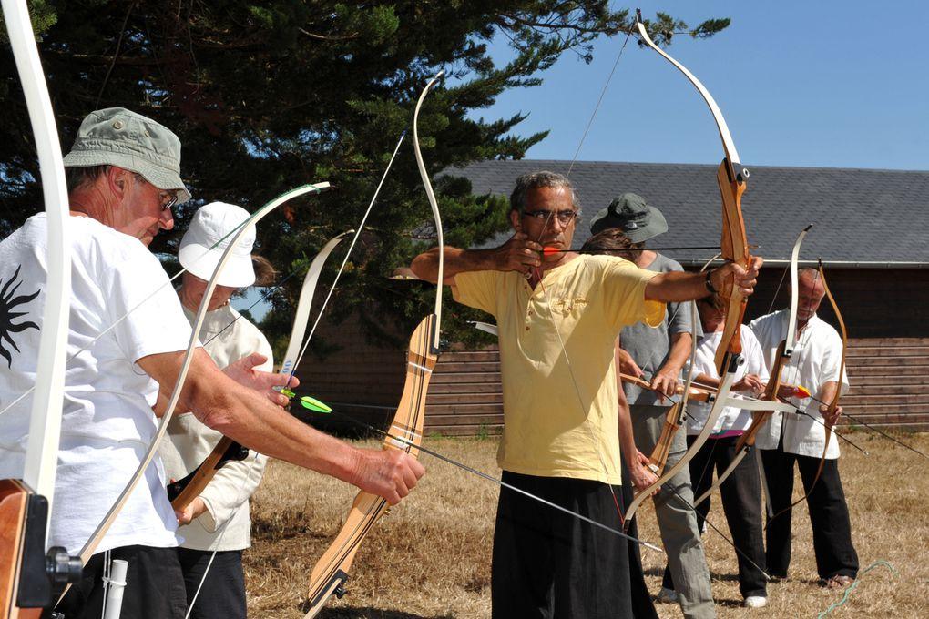 atelier arc avec Denis Legros aux jeux d'épée 2009Photos : Coralie Pilard
