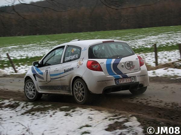Essais en vue de l'East Belgian Rally 2008